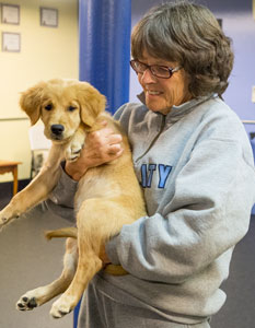 Mardi Closson brings her puppy to Puppy Class